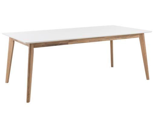 Tavolo da pranzo Century, Bianco, quercia