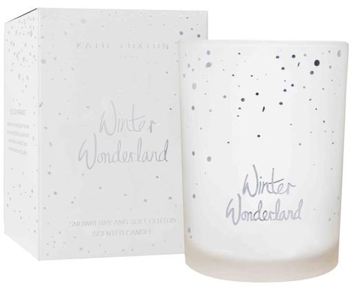 Candela profumata Winterwonderland (snowberry e cotton fresh), Bianco