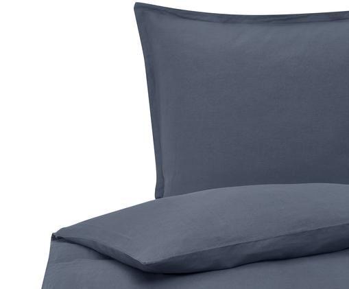 Gewaschene Leinen-Bettwäsche Breezy in Blau