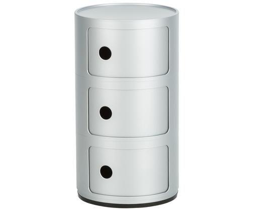 Design Container Componibile, Kunststoff, Silberfarben, Ø 32 x H 59 cm
