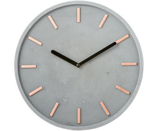 Orologio da parete Gela, Quadrante: cemento con indicatori di, Puntatore: metallo, Grigio, Ø 28 cm