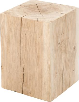 Hocker Block aus massivem Eichenholz