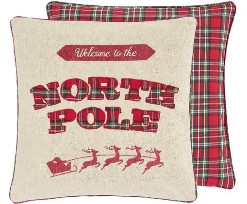 Wendekissenhülle North Pole mit karierter Rückseite