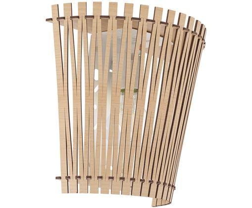 Applique Karma, Paralume: pannelli di fibre a media, Acero, Larg. 24 x Alt. 22 cm