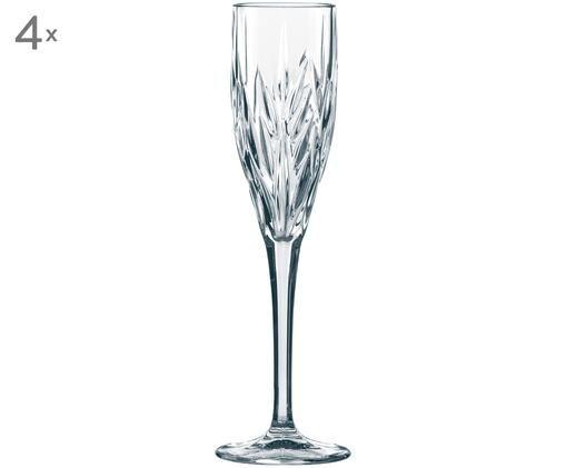 Flute da champagne in cristallo Imperial, 4 pz., Trasparente