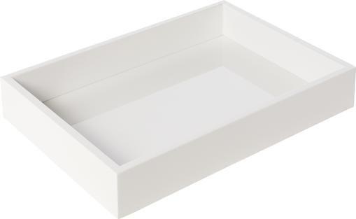 Hochglanz-Tablett Hayley in Weiß