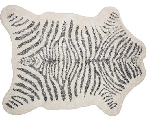Dywan Zebra, 95% bawełna, 5% inne włókna, Biały, czarny, S 145 x D 190 cm