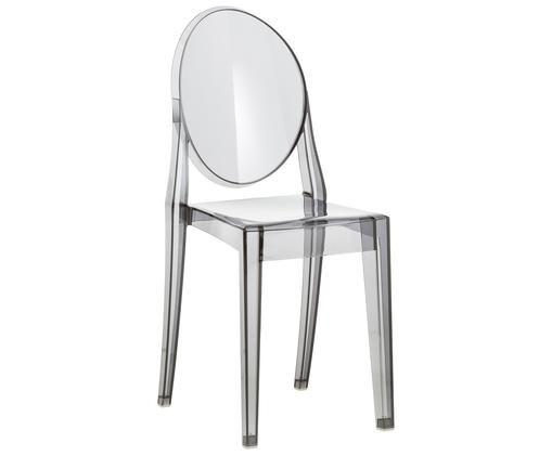 Sedia Victoria Ghost, Policarbonato, Grigio, trasparente, L 38 x A 89 cm