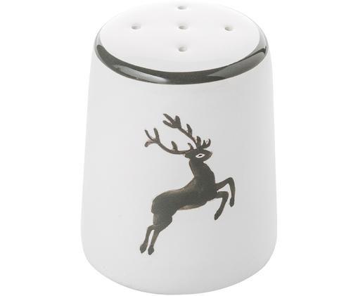 Solniczka Classic Grauer Hirsch, Ceramika, Szary, biały, 4 cm
