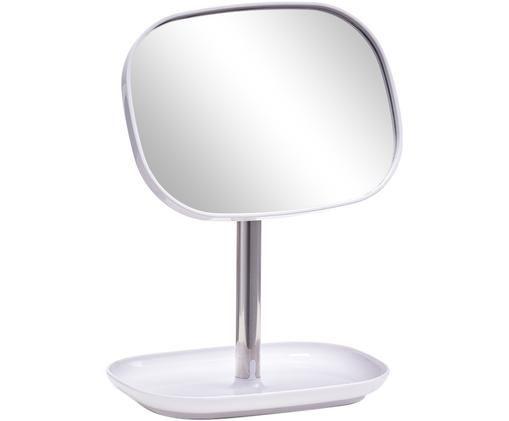 Miroir de salle de bain Tablet, Couleur argentée, blanc