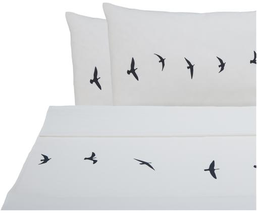 Parure letto renforcé Trip, Tessuto: Renforcé, Bianco, nero, 240 x 270 cm