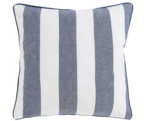 Federa arredo Monaco, Cotone, Blu, bianco, L 45 x L 45 cm