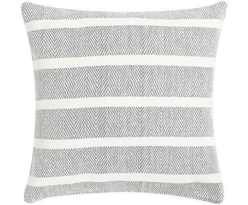Cuscino con imbottitura Amber, Grigio, bianco latteo, Larg. 45 x Lung. 45 cm