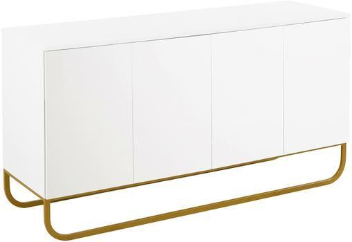Klassisches Sideboard Sanford in Weiß