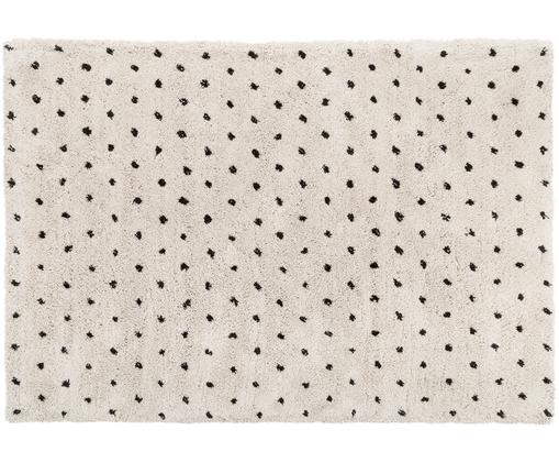 Ručně všívaný koberec Ayana, Béžová, černá