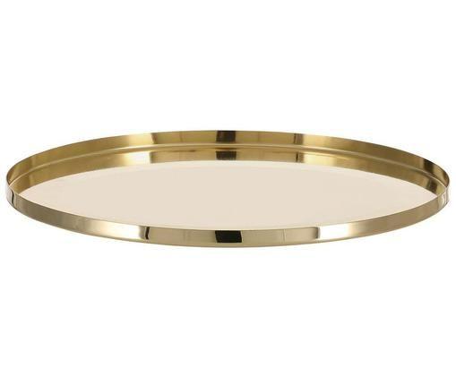 Rundes Deko-Tablett Vilna in Gold, Messing