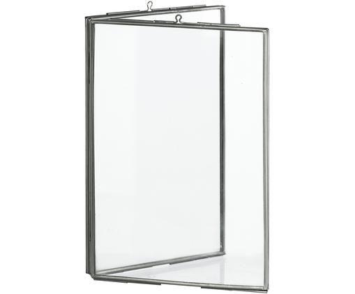 Ramka na zdjęcia Double, Szkło, metal powlekany, Stal szlachetna, 10 x 15 cm