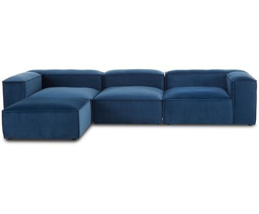 Sofa narożna modułowa Lennon, Niebieski
