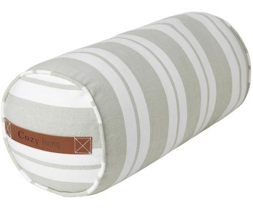 Poduszka wałek z wypełnieniem Cotton Bolster, Biały, miętowy