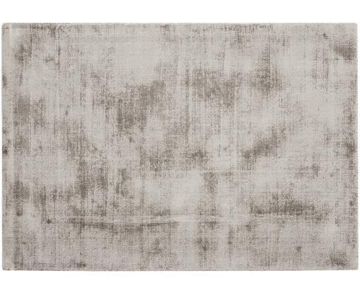 Alfombra artesanal de viscosa Jane, Parte superior: 100%viscosa, Reverso: 100%algodón, Gris pardo, An  160 x L 230 cm