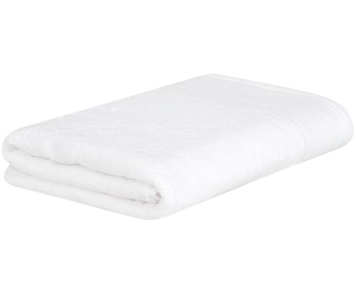 Asciugamano con bordo decorativo Premium, Bianco, Asciugamano