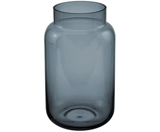 Glas-Vase Lasse, groß, Glas, Blau, transparent, Ø 14 x H 23 cm