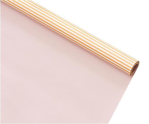 Geschenkpapier Stripes, Papier, Orange, Weiß, Rosa, 70 x 500 cm