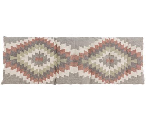Bankkussen Apache in ethno design, Steengrijs, crèmekleurig