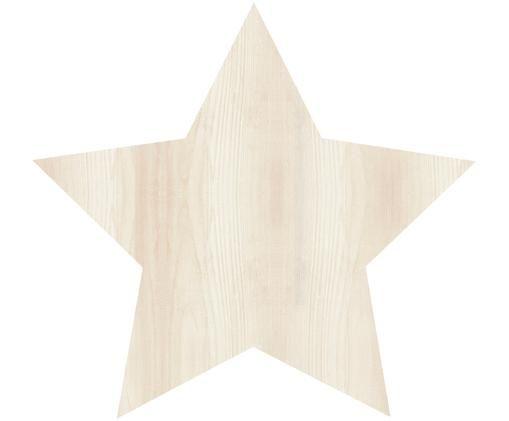 LED Wandleuchte Star mit Stecker, Leuchte: Sperrholz, beschichtet, Hellbraun, Creme, 26 x 26 cm