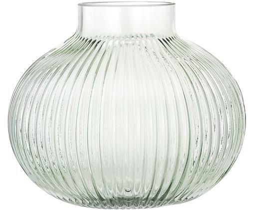 Kleine Vase Gola, Glas, Hellgrün, transparent, Ø 16 x H 15 cm