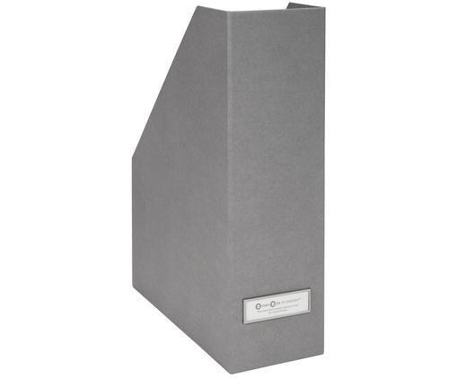 Stehsammler Viktoria, Organizer: Fester, laminierter Karto, Organizer außen: Hellgrau Organizer innen: Weiß Schild: Weiß, Silberfarben, 10 x 32 cm