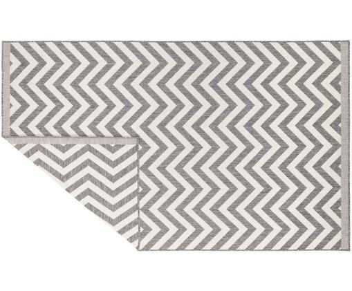 In- und Outdoorteppich Palma, beidseitig verwendbar, Grau, Creme, B 80 x L 150 cm (Größe XS)