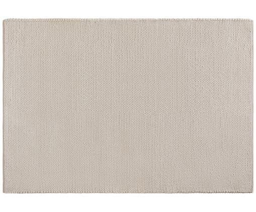 Ręcznie tkany dywan z wełny Uno, Kremowy, S 120 x D 170 cm