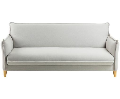 Sofa rozkładana Alizee (3-osobowa), Tapicerka: poliester 45 000 cykli w , Nogi: lite drewno bukowe, natur, Jasny szary, S 207 x G 93 cm