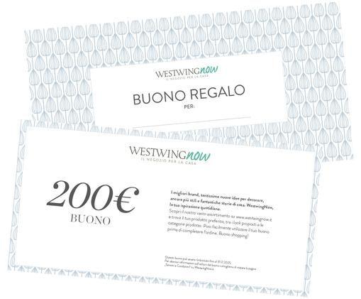 Buono regalo, Coupon stampato su carta di alta qualità e con busta propria, Bianco, 200
