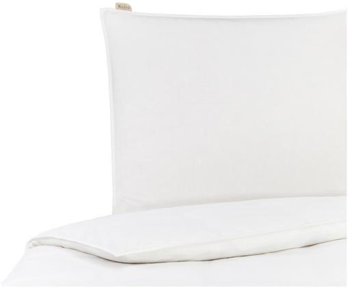 Leinen-Wendebettwäsche Natural mit Perkal-Rückseite, Vorderseite: 65% Leinen, 35% Baumwolle, Rückseite: Baumwollperkal Fadendicht, Weiß, 135 x 200 cm