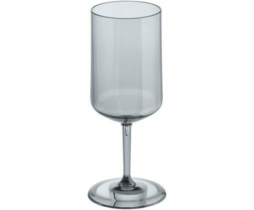 Bruchfestes Kunststoff-Weinglas Cheers, Thermoplastischer Kunststoff (Superglas), Grau, transparent, Ø 9 x H 21 cm