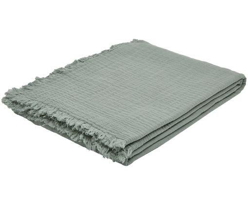 Plaid Vanly, Webart: Voile, Graugrün, 130 x 190 cm