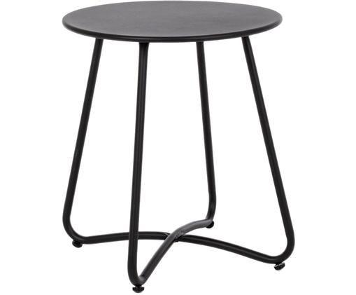 Table d'appoint en métal Wissant, Noir