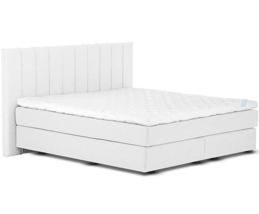 Łóżko kontynentalne premium Lacey, Jasny szary