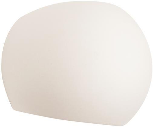 Applique Mercury, Paralume: ceramica, Bianco, Larg. 20 x Alt. 18 cm