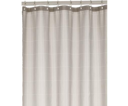 Zasłona prysznicowa Tiles, Jasny szary, S 180 x D 200 cm