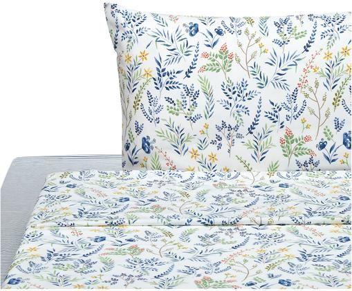 Completo letto Springfield, Bianco, blu, multicolore