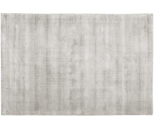 Handgewebter Viskoseteppich Jane, Flor: 100% Viskose, Hellgrau-Beige, B 120 x L 180 cm (Größe S)