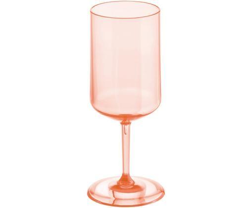 Bruchfestes Kunststoff-Weinglas Cheers, Thermoplastischer Kunststoff (Superglas), Rosenquarz, transparent, Ø 9 x H 21 cm