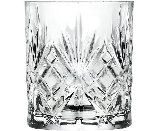 Vasos old fashioned de cristal Melodia, 6uds.
