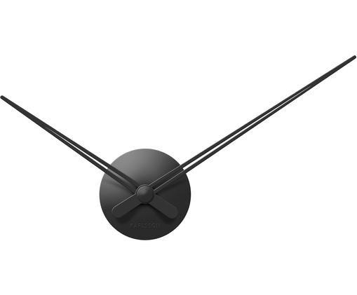 Wanduhr Mini Sharp, Aluminium, beschichtet, Schwarz, Ø 44 cm