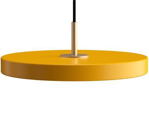 Suspension LED jaune Asteria, Jaune safran