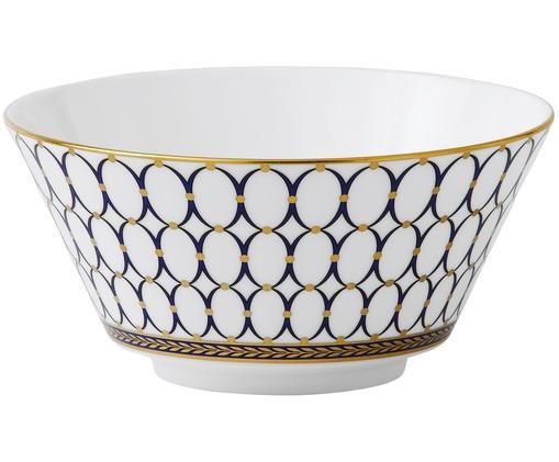 Schälchen Renaissance Gold, Weiß, Blau, Gold, Ø 15 x H 6 cm