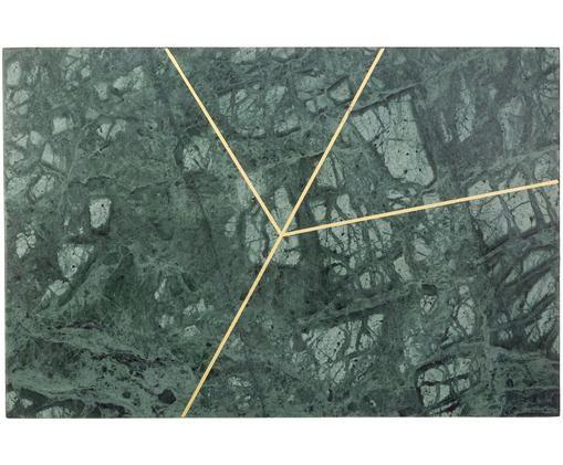 Marmeren plateau Marek, Gemarmerd groen, goudkleurig